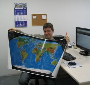 Domainweltkarte Büro